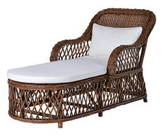 Brown Conservatory Lounger with Cushion
