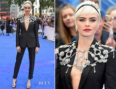 Cara Delevingne In Burberry – 'Valerian and The City of a Thousand Planets' London Premiere