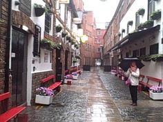 Cathedral Quarter on a rainy day, Belfast, Northern Ireland