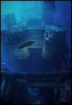 Underwater Ruins by dragos_jieanu