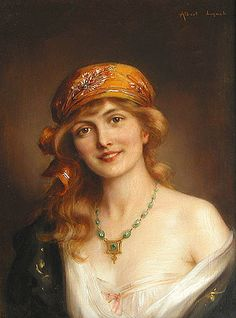 Albert Lynch (Peruvian artist, 1851-1912) A Beautiful Woman