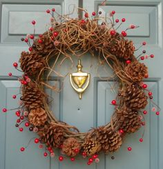Christmas Wreaths CINNAMON SCENTED Holiday by Casabellawreaths, $60.00
