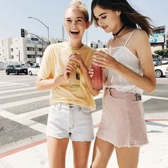 #brandyusa Aleena Honey Top | Phoebe Silky Tank & Juliette Corduroy Skirt