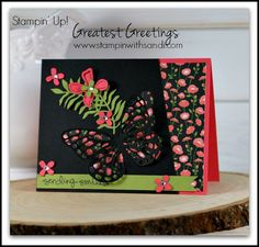 A card created with the Stampin Up Greatest Greetings Stamp set for the Happy Stampers Blog Hop, by Sandi @ www.stampinwithsandi.com