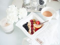 Teljänneito: Breakfast with Balmiuir, Malene Birger scented candle, Villeroy Boch