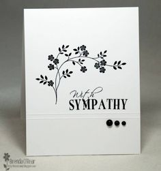 Simple...With Sympathy by Benzi - Cards and Paper Crafts at Splitcoaststampers