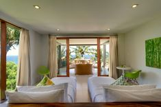 Malimbu Cliff Villa is a modern, five bedroom, luxury island retreat with its own private beach, on Lombok Island, Indonesia. 9