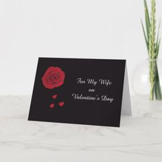 Shop Valentine Card for Wife created by KathyHenis. Valentines Card Design, Valentine Gift For Wife, Valentines Day Holiday, Husband Valentine, Valentine Day Cards, Holiday Cards, Cards For Boyfriend, Diy Gifts For Boyfriend, Love Messages