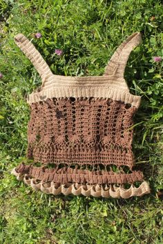 Summery handmade crochet Bruge lace top in brown and gold. INGA Design. http://www.inga-design.com/shop/product_info.php?cPath=3&products_id=96&osCsid=5bbf542535ea2c8036138252e59620d6