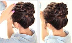 DIY Starburst Braided #Bun | Perfect summer #updo #hairstyle