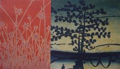 Fallen Upon Me by Jonathan Partridge - Multi-plate etching - Tasmanian artist Partridge, Printmaking, Art Prints, Wall Art, Fall, Artwork, Plate, Painting, Jackson