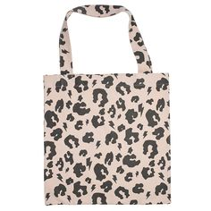 Leopard Print Canvas Tote - Peach - Scamp and Dude