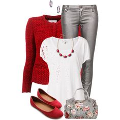 Red & Grey, created by kswirsding on Polyvore