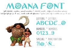 Moana font ttf instant download  Police d'écriture du dessin animé Vaiana Photoshop, Moana Font, Moana Birthday, 4th Birthday, Big Letters, Police, Software, Fonts, Banner
