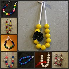 Gumball necklaces, very cute idea from alittlecrafting.blogspot.com
