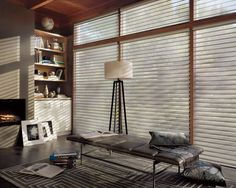 Sheer Shadings magically float between two sheers and diffuse harsh sunlight. Simply tilt the vanes to achieve your desired level of light and privacy.