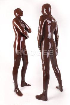 Full cover latex tights for men