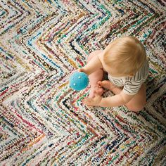 Kids Rugs: Multi-Color Chevron Rug | The Land of Nod