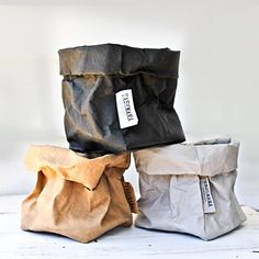 The humble paper bag is elevated to a showpiece with these smart sacks by UASHMAMA. Paper bags that feel like leather, wash like fabric and flatten...