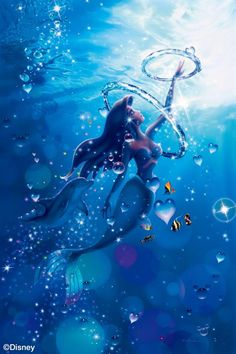 The Little Mermaid - Reaching for Love (Christian Riese Lassen) Anime Disney Princess, Ariel Disney, Disney Princess Pictures, Disney Princess Drawings, Mermaid Disney, Disney Little Mermaids, Little Mermaid Wallpaper, Mermaid Wallpapers, Cute Disney Wallpaper