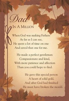 Missing my father
