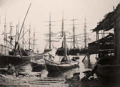 Salıpazarı Limanı- 1894 Once Upon A Time, Sailing Ships, Istanbul, Nostalgia, Boat, Black And White, Inspiration, Vintage, Pictures