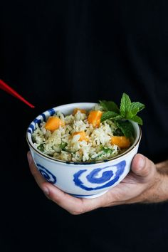 Sweet, sour, bitter and salty, this Thai-influenced rice dish is a delectable accompaniment to fish. Coconut Rice, Toasted Coconut, Rice Dishes, Main Dishes, Vegan Gluten Free, Vegan Vegetarian, Pasta Sides, Jasmine Rice, Something New