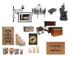 """""""Winter Is Coming"""" by ladykdragon on Polyvore featuring interior, interiors, interior design, home, home decor, interior decorating, Laura Lee, Laura Lee Design, Stanley and Bashian"""