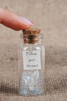 Make a wish Tiny gift Wish gift Wish bottle Message in a bottle Friendship gift Wishing bottle Personalized gift Girlfriend Boyfriend Glass Bottle Crafts, Bottle Charms, Bottle Necklace, Diy Gifts For Girlfriend, Boyfriend Gifts, Best Friend Gifts, Gifts For Friends, Special Gifts For Her, Message In A Bottle