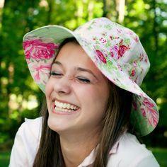 Womens Sun Hat Pattern - Reversible Sunhat