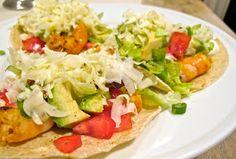 Jenny Steffens Hobick: Shrimp Tacos with Avocado and White Corn Tortillas | Recipes | Budget Friendly Dinner Idea