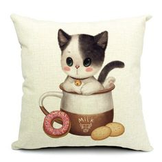 Baby Kitten Love Cushion Covers – Coco Ruby Darling