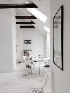 Una #mansarda di bianco vestita