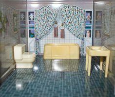Vintage Marx Dollhouse Furniture Bathroom Set | eBay