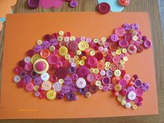 Button fish, an easy craft for Chinese New Year to bring good luck