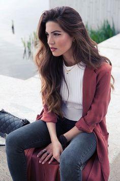 marsala color pantone fashion trend negin mirsalehi #benchbagstheblog #outfit