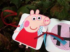 Peppa Pig Custom Birthday Banner  by blissfullybaby on Etsy, $30.00