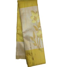 Yellow Handloom Kanjeevaram Silk Saree