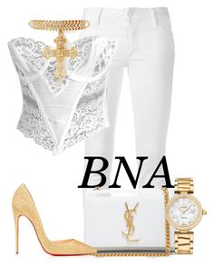 """BNA"" by deborahsauveur ❤ liked on Polyvore featuring Dsquared2, Yves Saint Laurent, OMEGA and Christian Louboutin"
