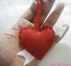 Chaveiro Coração Cupido