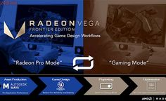 "AMD Radeon RX Vega Frontier conta com ""Gaming Mode"" para testar jogos"