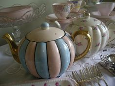 Gibsons teapots for hire from Heirloom Vintage Tableware