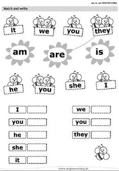 Risultati immagini per verbo to be para niños English Grammar For Kids, English Worksheets For Kids, Kids English, English Activities, English Lessons, English Vocabulary, Teaching English, Learn English, Is Am Are Worksheets
