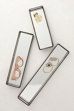 Mirrored Jewelry Trays #anthropologie