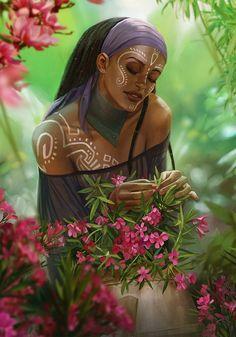 Inspiration for the fantasy world of Primeval Thule. Black Girl Art, Black Women Art, Black Girl Magic, Black Characters, Fantasy Characters, African American Art, African Art, Character Portraits, Character Art