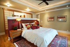 Decoração de quarto com gesso acartonada e tapete persa