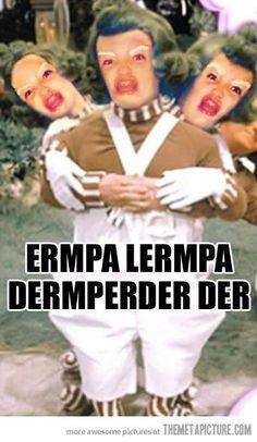funny oompa loompa Wonka movie