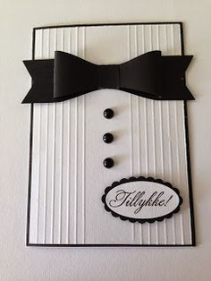 Heidis Kreative Team Huleboer: Bordkort til konfirmanden eller en flot fyr :o)
