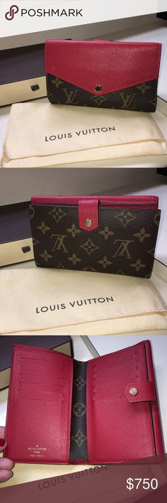 Louis Vuitton Pallas Compact Wallet New , never worn , NO TRADE, envelope shaped large compartment, one studded flap opening compartment, 14 credit cards slot, one coin compart, one flat pocket for banknotes, 2 inside flat pockets, Calf leather lining Louis Vuitton Bags Wallets