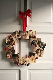 made a similar wreath last Christmas. Will make another one this year with photos of our toddler this time.